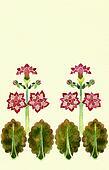 art deko border floral