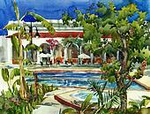 hotel all include watercolor