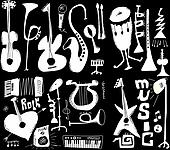 doodles musical instruments funny