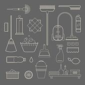 Cleaning Supplies Clip Art Royalty Free Gograph