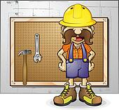 Construction Worker Cartoon Charact