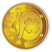 Lucky Gold Coin Cartoon