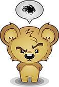 Frustrated Bear Cartoon Character