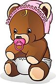 Baby Teddy Bear Cartoon Character