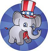Republican Elephant Cartoon Charact