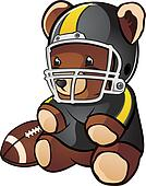 Football Teddy Bear Cartoon