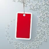 Red Price Sticker With Starsdust PiAd