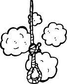 hanging noose cartoon
