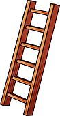 illustration of a wooden ladder