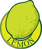 green lemon label