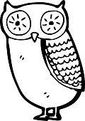 cartoon little owl
