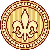 lily flower - heraldic symbol