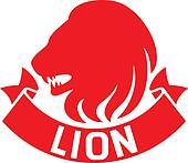 lion head label