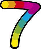 Lucky Seven Clip Art Royalty Free Gograph