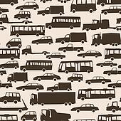 Seamless cartoon many cars.
