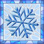 Snowflake stained glass window.