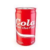 single can of fizzy soda cola with original design