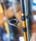Fishing rod with blurred background