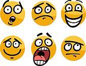 emoticon or emotions set cartoon illustration