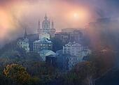 View of St. Andrew's church in Kiev