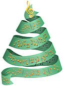 Christmas tree with music dots