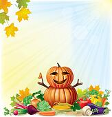 Harvest autumn background