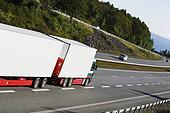 trucking on highway