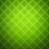 Green cloth texture background. Vector illustration