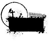 Halloween grunge silhouette background