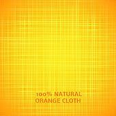 Orange cloth texture background. Vector illustration