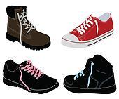 Different shoes set