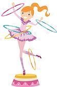 Girl Circus Hoops