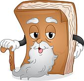 Old Book Mascot