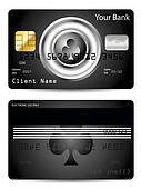 Poker club credit card design