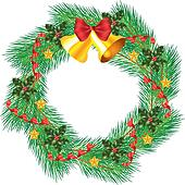 christmas wreath with jingle bells