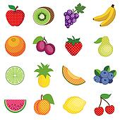 Fruits and Polka Dots