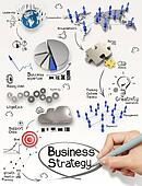 hand drawing creative business strategy