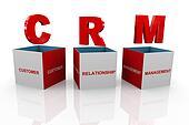 3d box of crm - customer relationship management