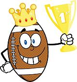 Football Ball With Golden Crown