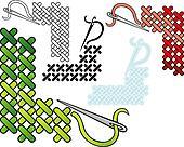 Cross stitch corners