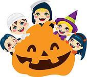 Halloween Pumpkin Children