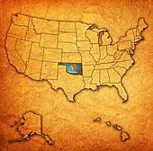 oklahoma on map of usa