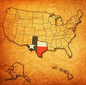 texas on map of usa