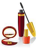 set cosmetics illustration