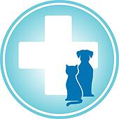 blue veterinary symbol