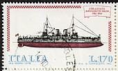 Battleship postage stamp