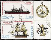 Ships postage stamp block bis
