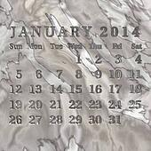 Stone calendar 2014, January