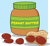 Peanut Butter Jar With Peanuts