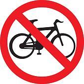 no bicycle sign (no bikes symbol)